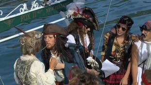 The first legally-recognised Pastafarian marriage has taken place on a pirate ship in New Zealand