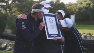 Golf team break Guinness World Record for 'fastest hole'