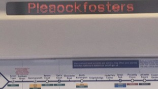 New London Tube station 'Pleaockfosters' mystery solved.