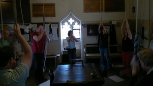 Bell-ringers at Derby Cathedral