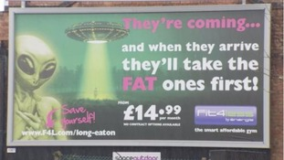 Controversial advert at centre of fat-shaming row removed