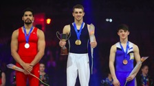 Louis Smith had to settle for silver in Liverpool.