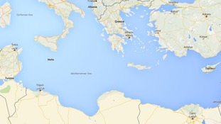 The Mediterranean Sea migrants have to cross.