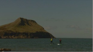 SUP at Worm's Head, Gower