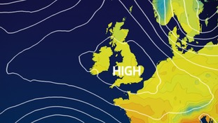 High pressure building Tuesday-Wednesday.  A quiet spell of weather ahead