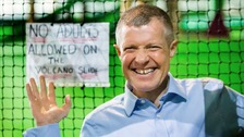 Scottish Liberal Democrat leader Willie Rennie launches the party's election manifesto during a visit to Jungle Adventure in Edinburgh.