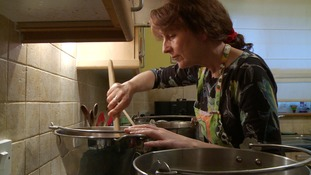 Ali Barwick from Loddon started by cooking batches in her kitchen.
