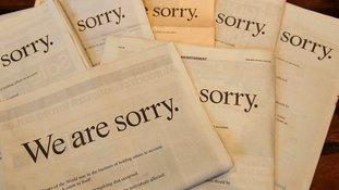 News Corp Chairman Rupert Murdoch published a newspaper apology