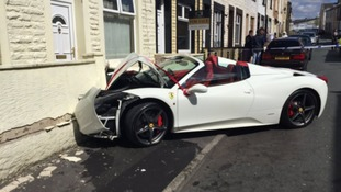YouTube star 'Lord' Aleem owns £240,000 ferrari that crashed into house