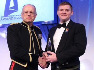 He was presented with the award by Lieutenant Colonel Nigel Shepherd, Head of Defence Food Services at the Cost Sector Catering Ceremony in London.