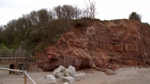 Striking images show the rate of coastal erosion in Devon