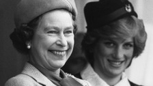 The Queen and Princess Diana