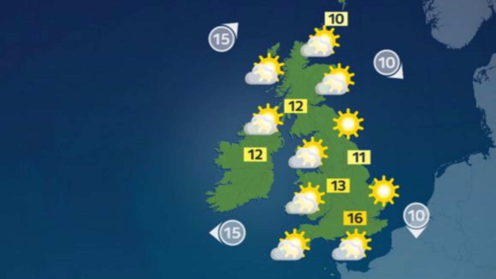 Chilly start to the day with dry and sunny spells later