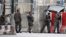 The attack is the first in Kabul since the Taliban launched its spring offensive this month