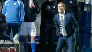 Queen of the South manager James Fowler during the Scottish Championship match at Palmerston Park, Dumfries.