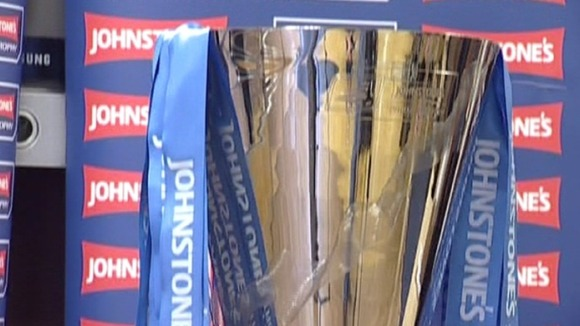 The Johnstone&#x27;s Paint Trophy displayed in Chesterfield Town Centre