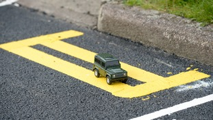 Council paints double yellow lines only big enough for toy car