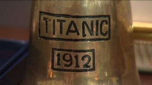 A bell similar to one used on the Titanic