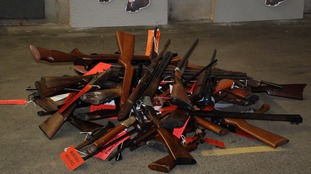 More than 300 weapons were handed in.