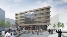 Artist's impression of the buildings at the Vaux site