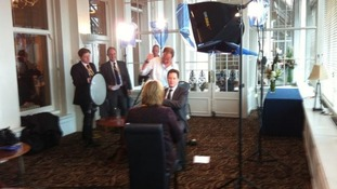 Our political correspondent Alison Mackenzie speaking to Nick Clegg