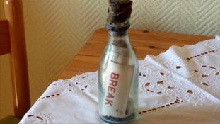 The bottle found by Marianne Winkler