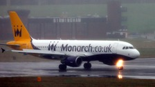 A Monarch aeroplane.