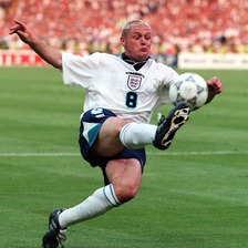 Former Newcastle and England star Paul 'Gazza' Gascoigne