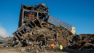 Didcot power station collapse: Footage shows scale of devastation
