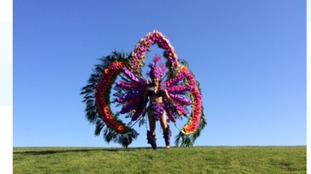 Floral carnival costume