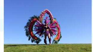 Floral carnival costume