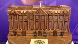 Cadbury World creates chocolate Buckingham Palace for Queen's 90th