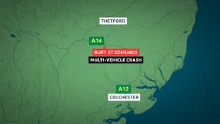 Map showing where the crash happened.