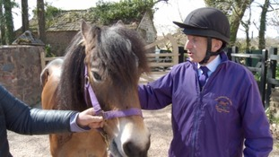 Michael is teaming up with an eight-year-old Exmoor Pony Apollo for his three month intensive training