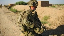 Dave Curnow serving in Afghanistan