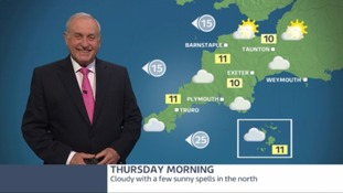 Noticeably more cloud with showers in the afternoon