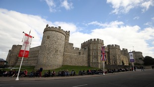 The outside of Windsor Castle in Berkshire