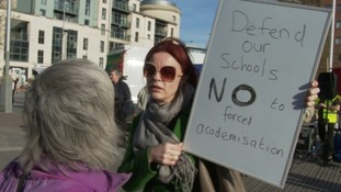Protesters challenge plans to turn schools into academies