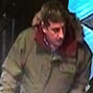 CCTV image of man police think might be able to help with their enquiries.