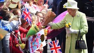 Queen Elizabeth II meets well-wishers during the walkabout