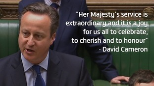 David Cameron paid tribute to the Queen in the Commons