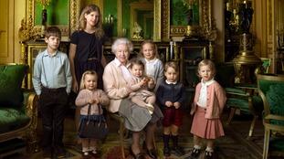 The queen and grandchildren
