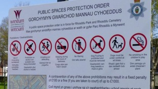 Council puts up warning sign to stop people from pooing in public park