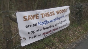 Campaigners due to rally over Caerphilly housing plans