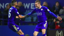 Forward pairing Jamie Vardy and Riyad Mahrez were both named