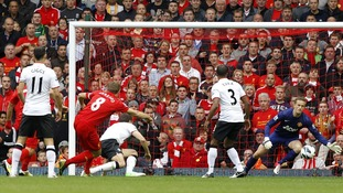 Gerrard scores at Anfield.