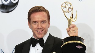 Homeland's Damian Lewis and Downton Abbey's Dame Maggie Smith win Emmy awards