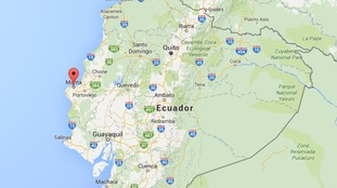 The earthquake hit off the coast of Portoviejo in Ecuador