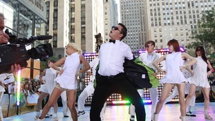 Korean rapper-singer Psy performs on NBC's 'Today' show in New York in September.