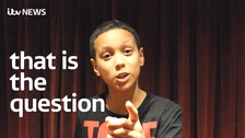 Ten-year-old Michael Rukmin recites his favourite Shakespeare line.